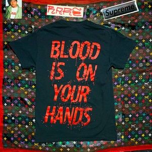 🩸 AENIMUS BLOOD IS ON YOUR HANDS death metal tee